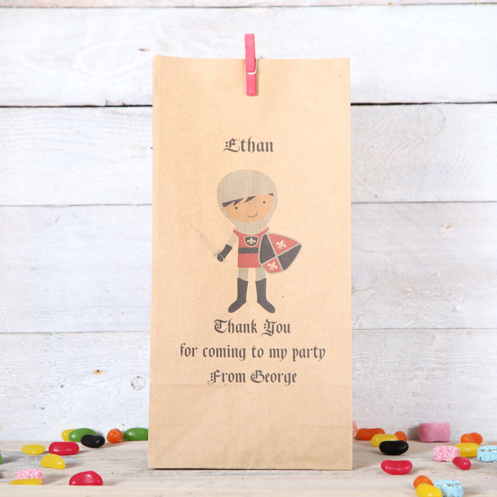 Personalised Knight Party Bags, Dark