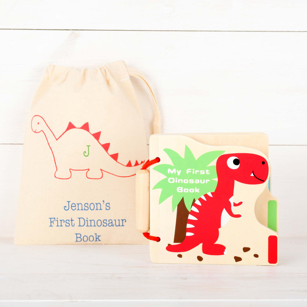 My First Dinosaur Picture Book And Personalised Bag