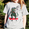 Childrens Personalised Skateboard Dinosaur T Shirt