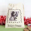 Personalised cotton dog treat bag