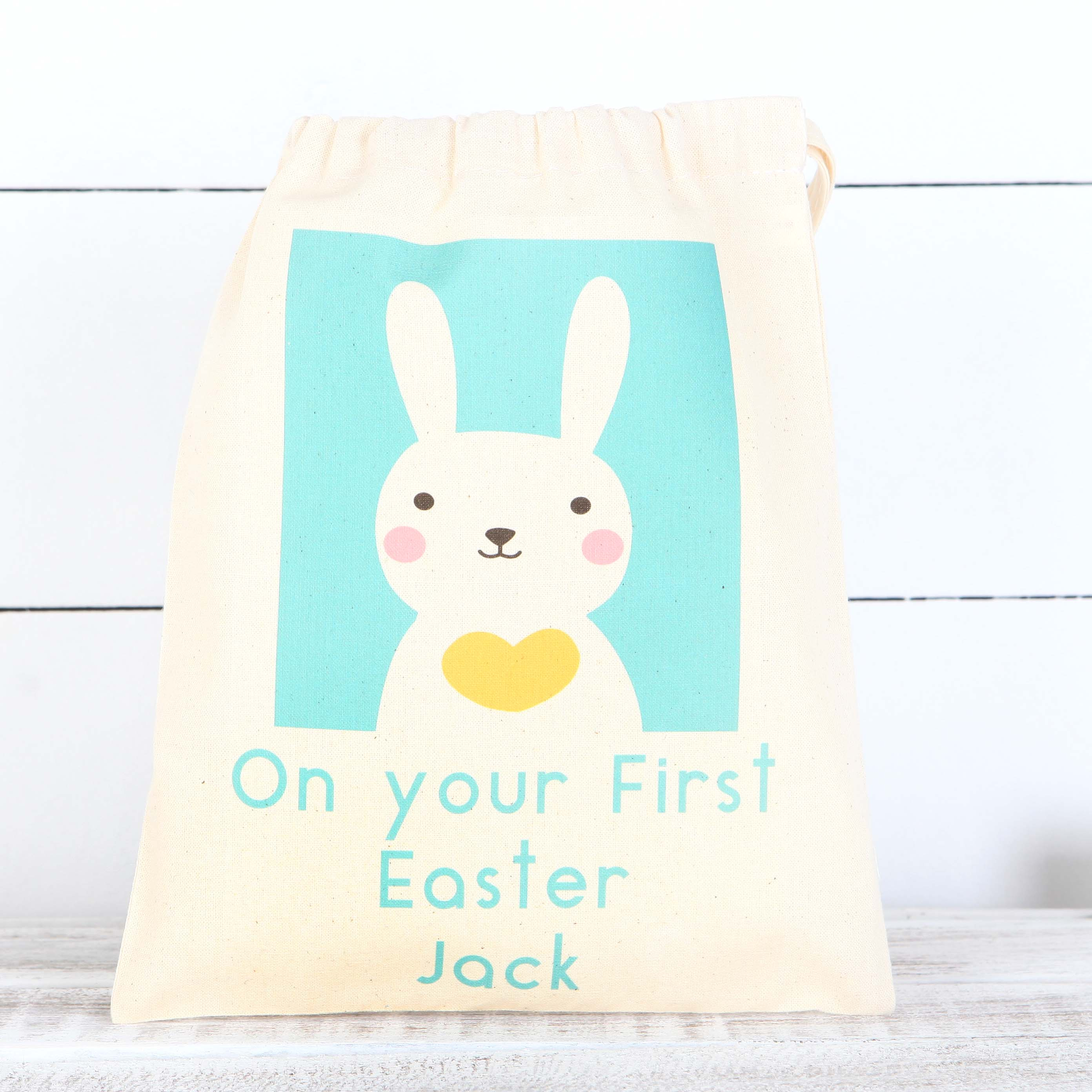 Personalised easter bunny cotton bags red berry apple personalised easter bunny cotton bags negle Gallery