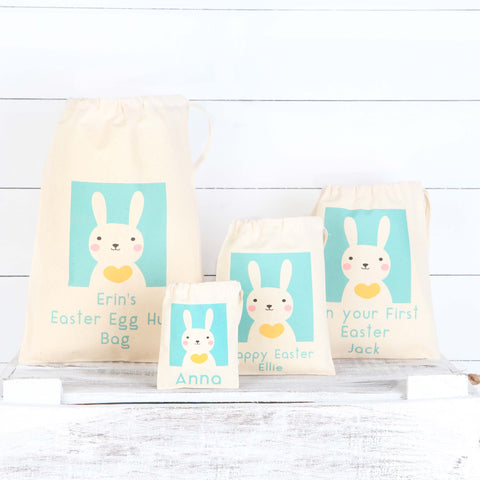 Personalised Easter Bunny Cotton Bags
