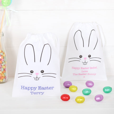 Personalised Easter Bunny Drawstring Pouch