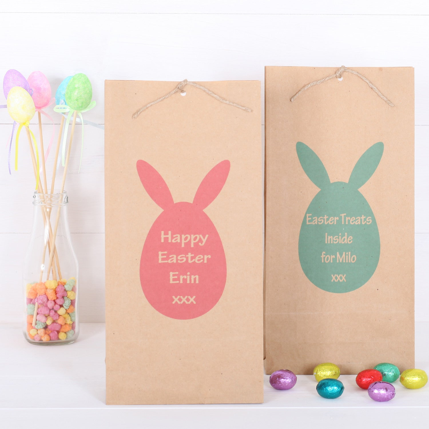 Personalised easter egg gift bag red berry apple personalised easter egg gift bag negle Images