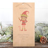 Personalised Christmas Boy Or Girl Elf Darker Skin Tone Gift Bag