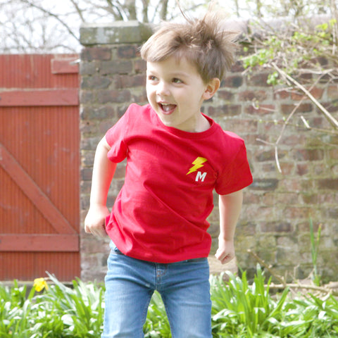 Childrens Super Hero Flash Personalised T Shirt