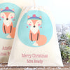 Christmas Fox Personalised Cotton Gift Bags