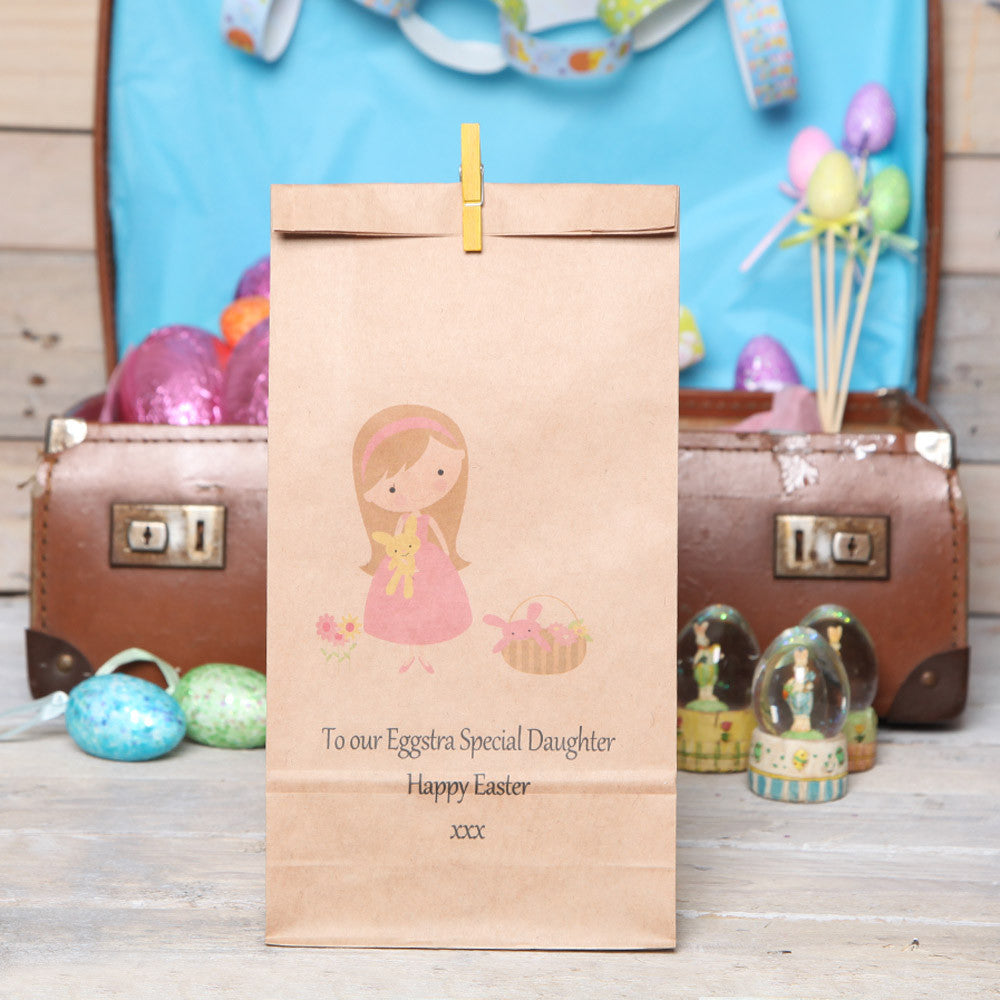 Personalised Girl's Easter Gift Bag