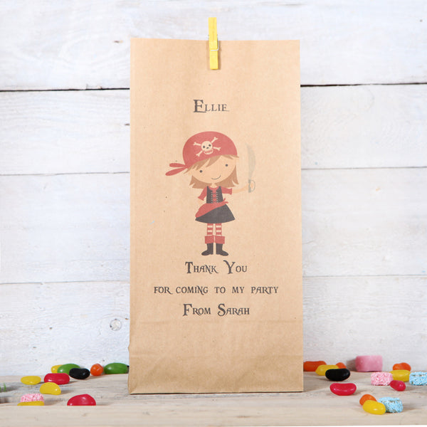 Personalised Girl Pirate Party Bags