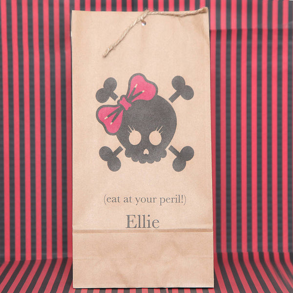 Personalised Girl Skull Party Bags
