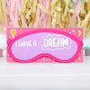 Glow In The Dark Sleep Mask On Gift Card, Four Designs