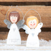 Set Of Two Guardian Angel Christmas Decorations