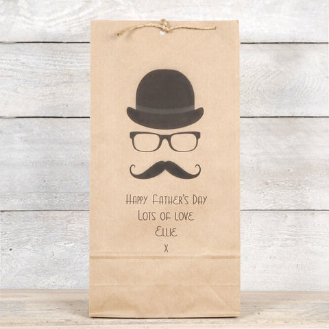 Hat, Glasses And Moustache Mens Gift Bag