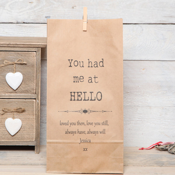 Personalised Movie Quote Gift Bag
