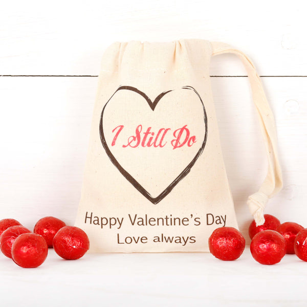 Personalised Anniversary 'I Still Do' Bag + Chocolates