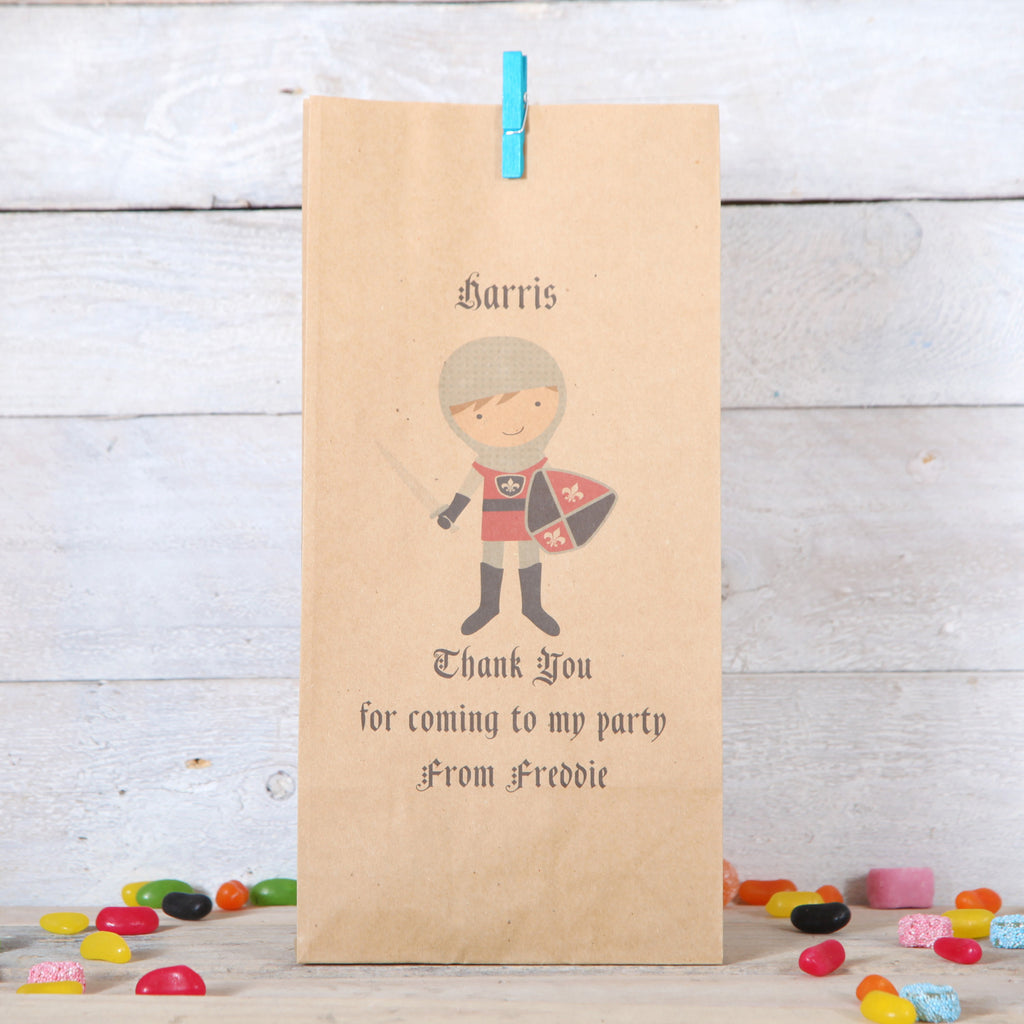 Personalised Knight Party Bags