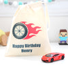 Red Die Cast Lamborghini Toy Car And Personalised Bag