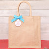Personalised Message Jute Shopper