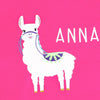 Pink Girls Personalised Llama Alpaca Tshirt