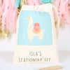 Llama Stationery Set And Personalised Bag