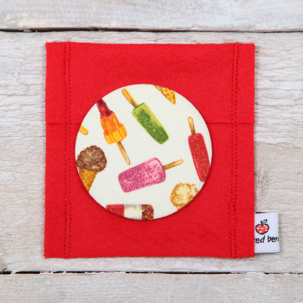Ice Lolly Handbag Mirror With Pouch