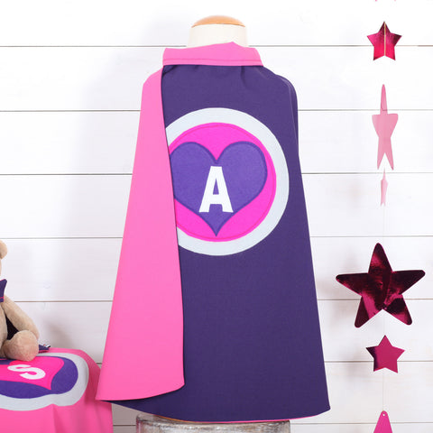 Personalised Love Heart Dressing Up Play Cape
