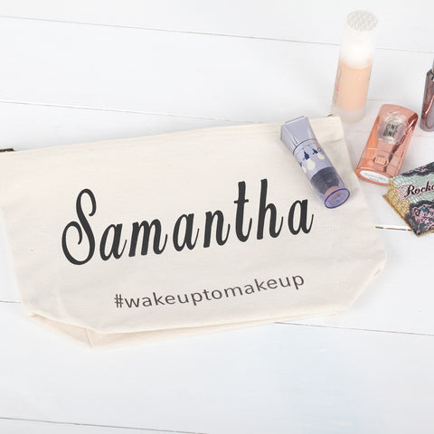 Personalised Cotton Wash Bag Or Cosmetic Bag