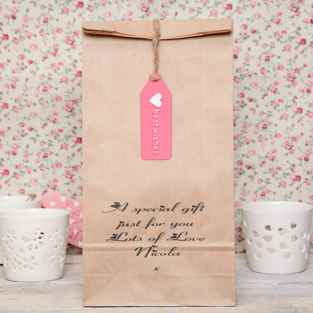 Personalised Message And Tag Gift Bag