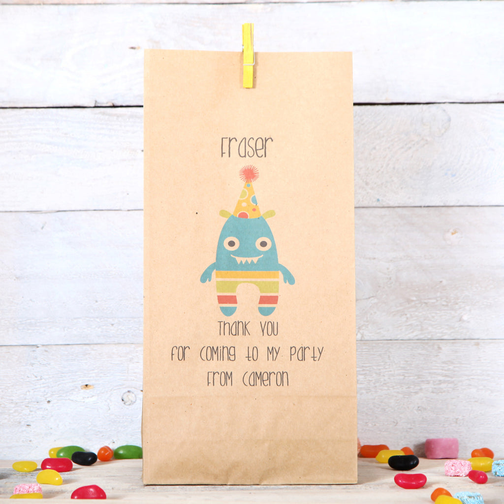 Personalised Mini Monsters Party Bags