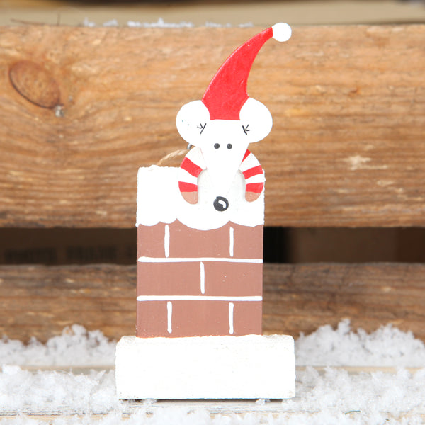 Mouse In Chimney Christmas Tree Decoration