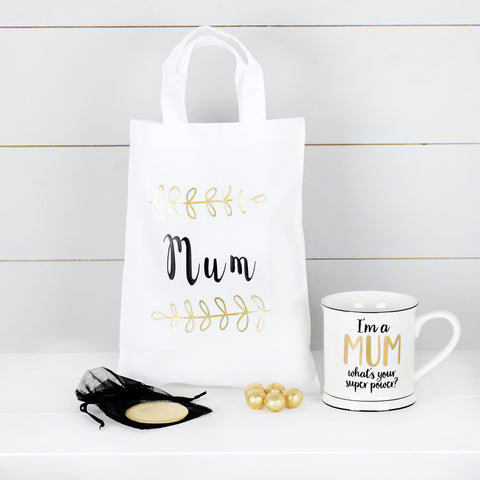 Super Mum Mug, Mirror And Chocolates, Mothers Day Gift