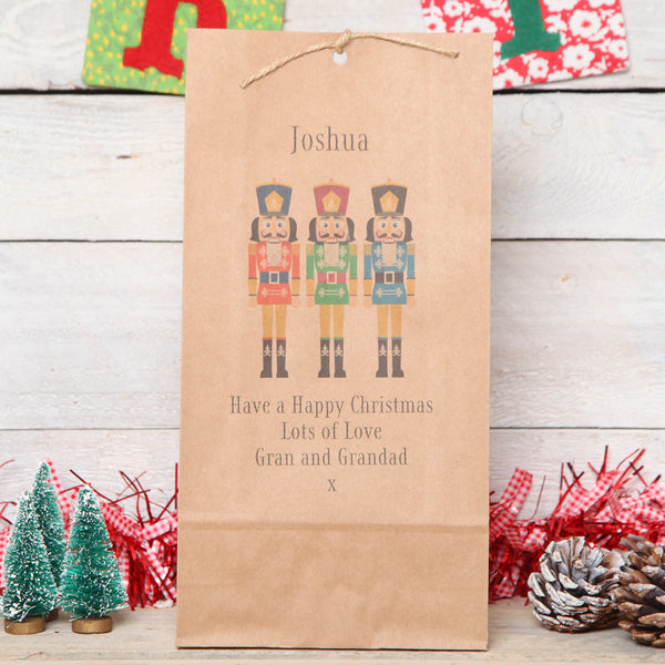 Personalised Nutcracker Christmas Gift Bag