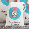 Owl Christmas Personalised Cotton Bags