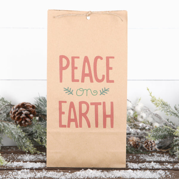 Peace On Earth Christmas Gift Bag