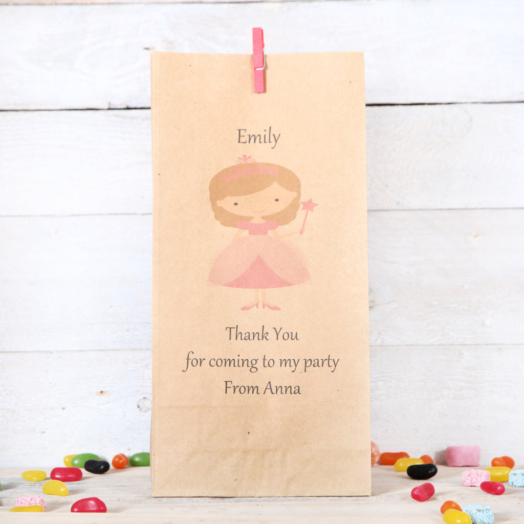 Personalised Princess Party Bags