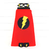Super hero cape with mask and cuff set.