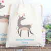 Personalised Christmas Reindeer Cotton Bags