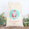Santa Christmas Personalised Cotton Bags