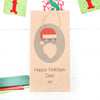 Personalised Hipster Santa Gift Bag