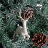 Silver And Gold 3D Reindeer Christmas Decoration