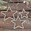 Set Of Three Christmas Tree Star Decorations