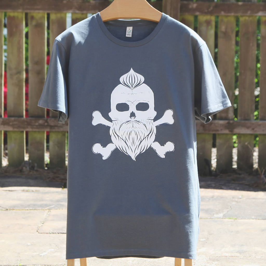 Mens Skull T Shirt, Can Be Personalised