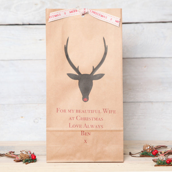 Christmas Personalised Deer Head Bag
