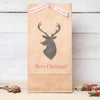 Christmas Personalised Stags Head Gift Bag