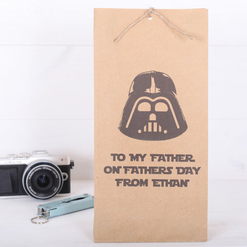 Personalised Darth Vadar Father's Day or Birthday Gift Bag