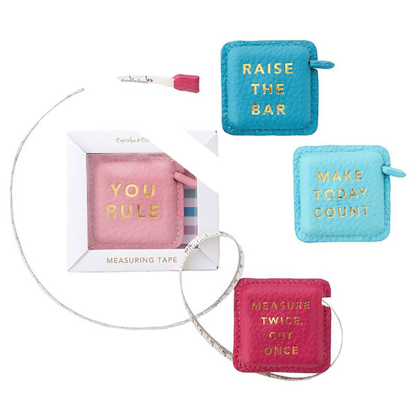 You Rule Textured Slogan Tape Measure In Gift Box