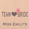 Team Bride Personalised Hen Party, Favour Bags