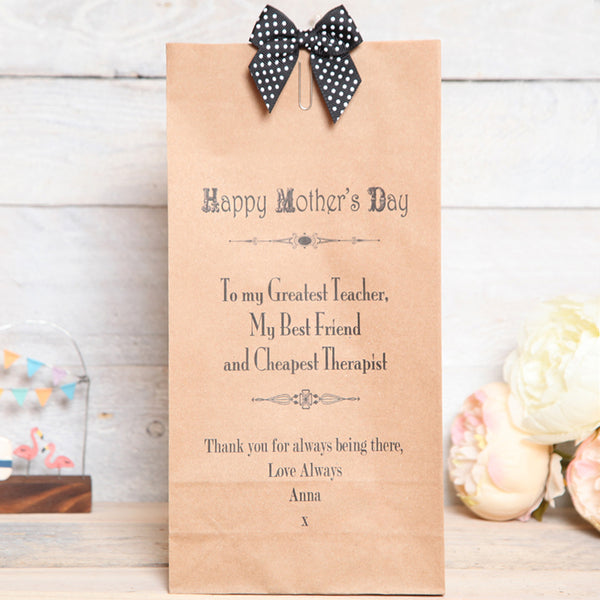 Personalised Mother's Day Message Bag
