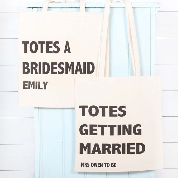 Personalised Totes Getting Married Canvas Bag