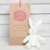Bunny Rabbit Rattle With Personalised Gift Bag
